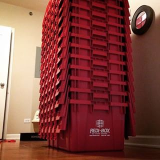 Redi-Boxes Stacked at customer